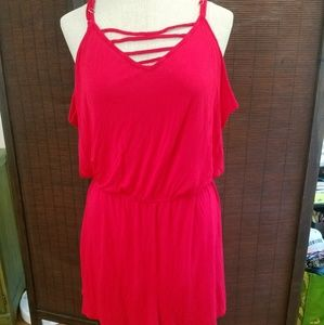 Mossimo Red Romper  Size Large